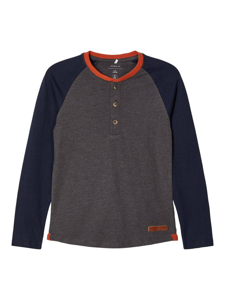 Nadal Cotton Long-sleeved Top grey
