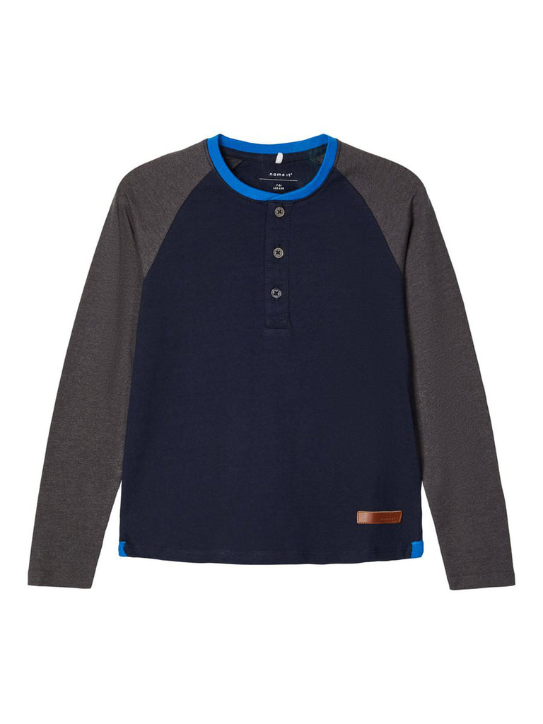 Nadal Cotton Long-sleeved Top navy