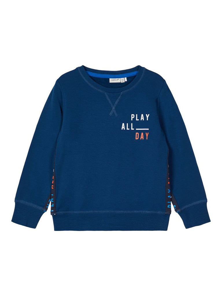 Lasso Printed Sweat Top dblue
