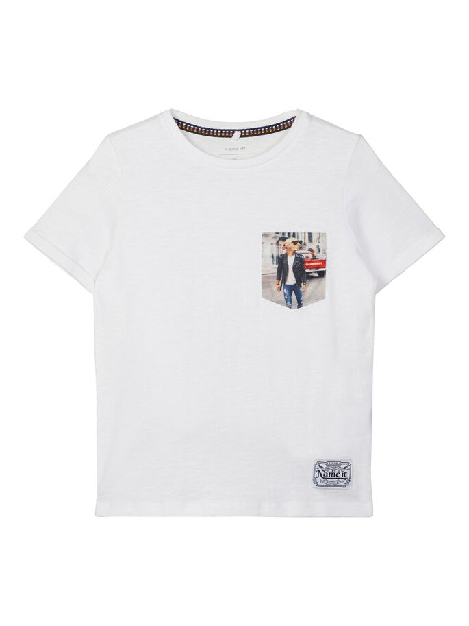 Agangman Short Sleeve White Boys Tee
