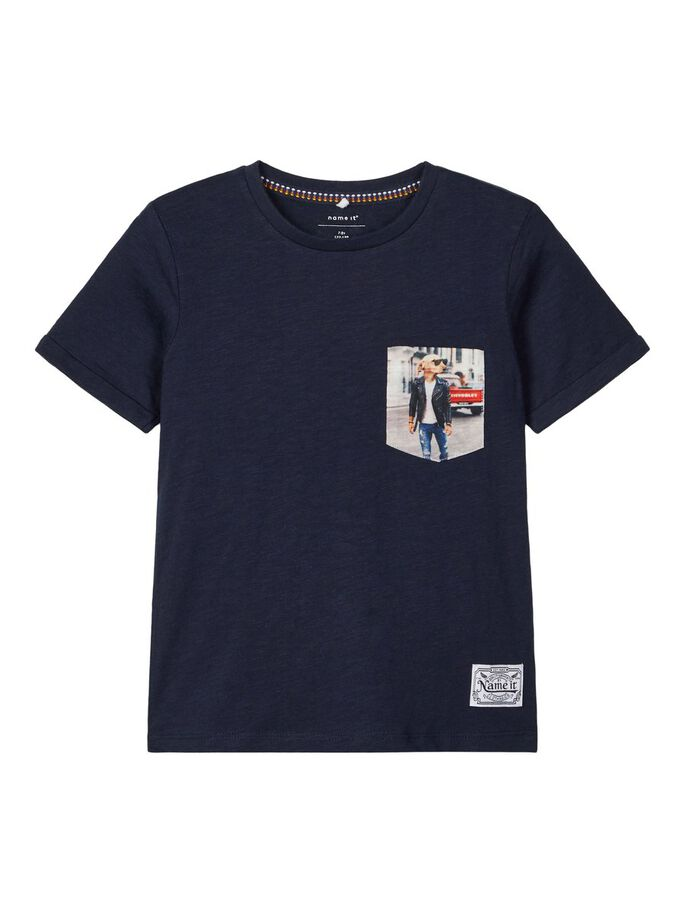 Agangman Short Sleeve Navy Boys Tee
