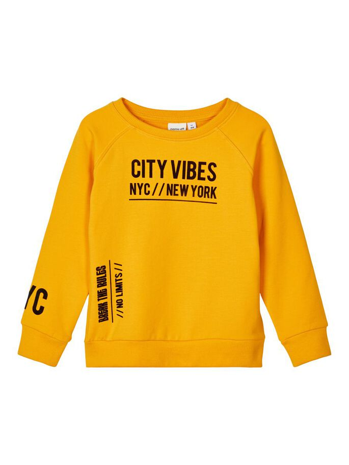 Boys Rod Crew Neck Yellow Sweatshirt