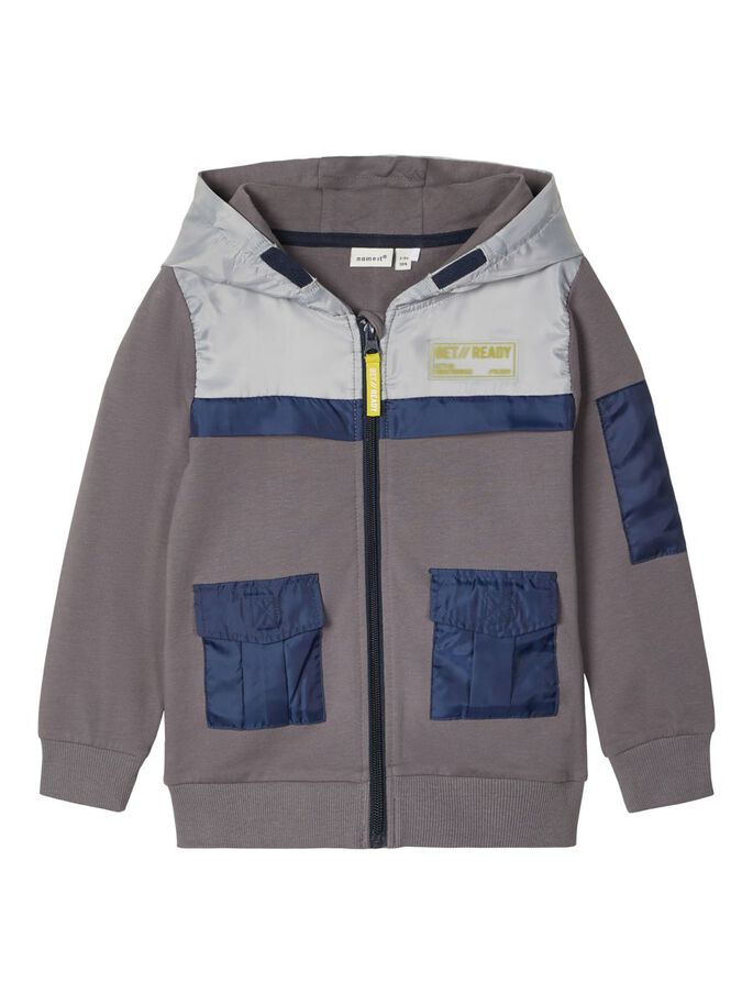 Boy's Scott Zip Up Grey Hoodie
