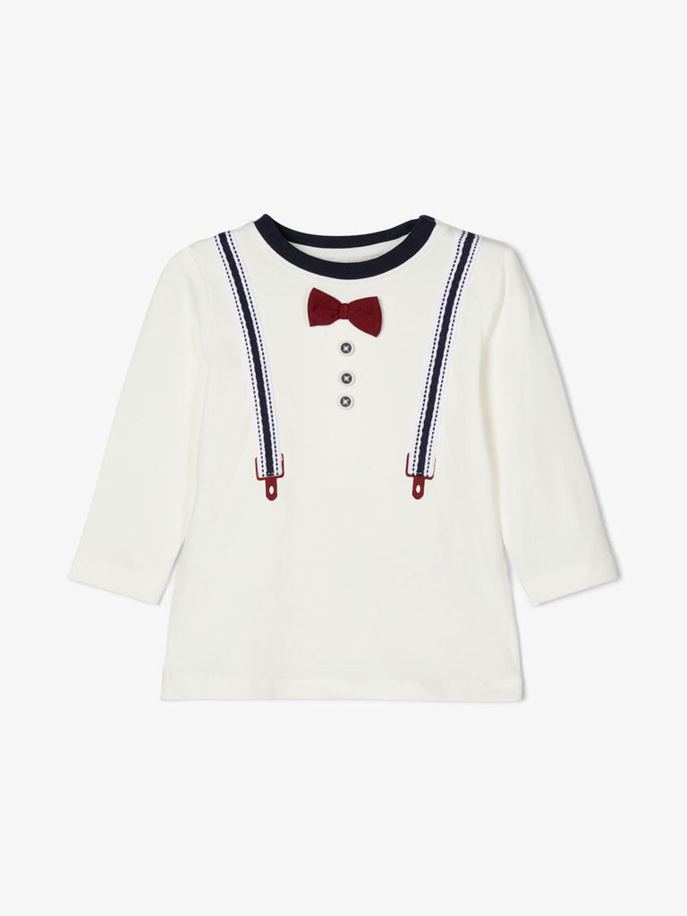 Bowtie And Suspenders Long-sleeved T-shirt