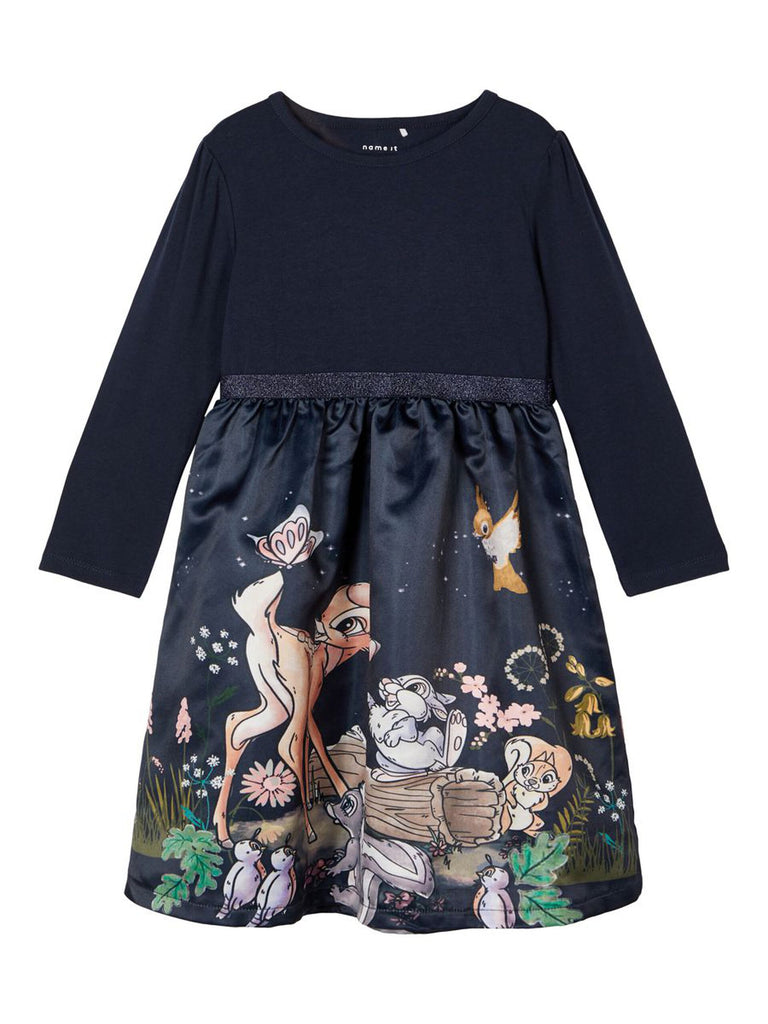 Bambi Disney Neel LS Dress navy