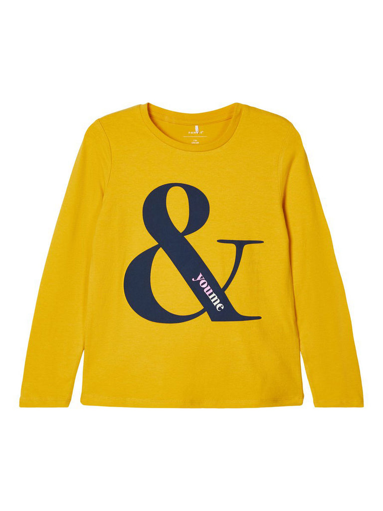 Natty Printed Long-sleeved T-shirt mustard