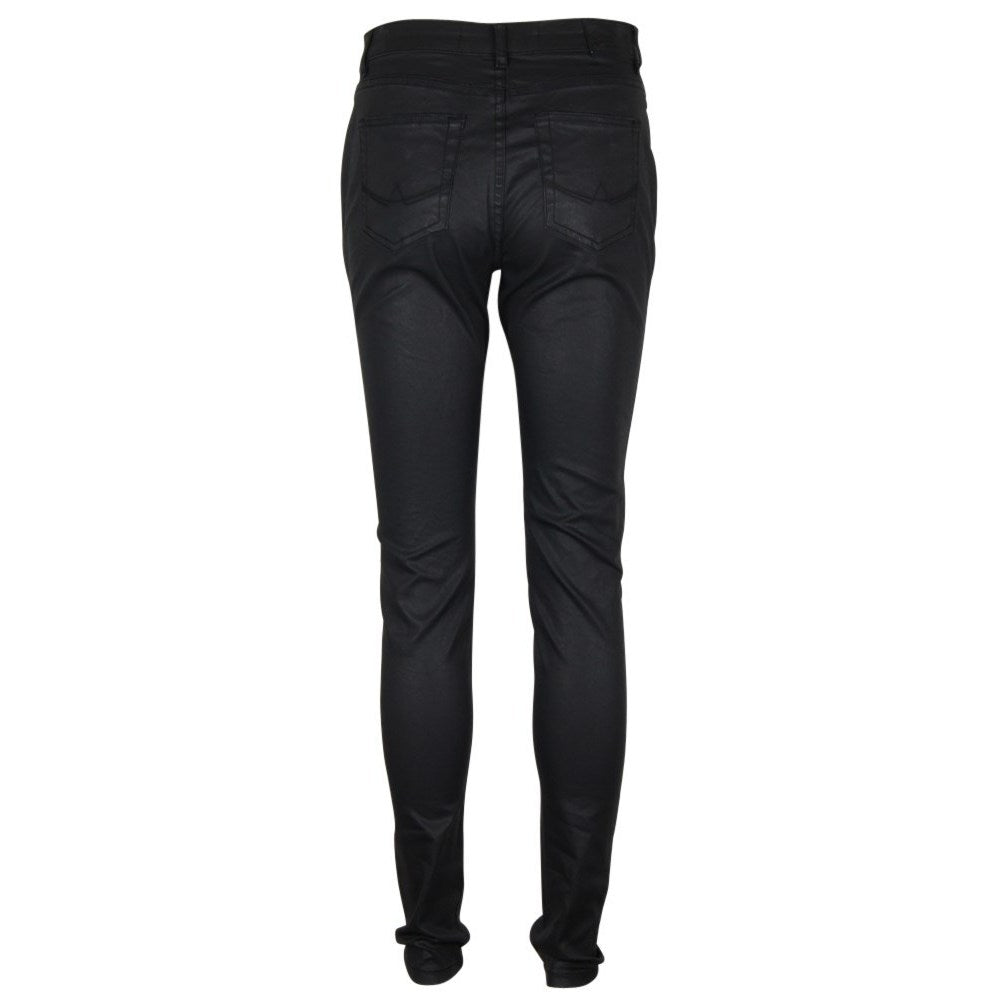 Superdry Ladies Sophia Skinny Coated Black Jeans
