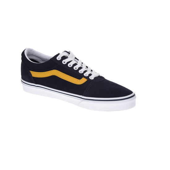 Retro Ward Navy with Yellow Stripe
