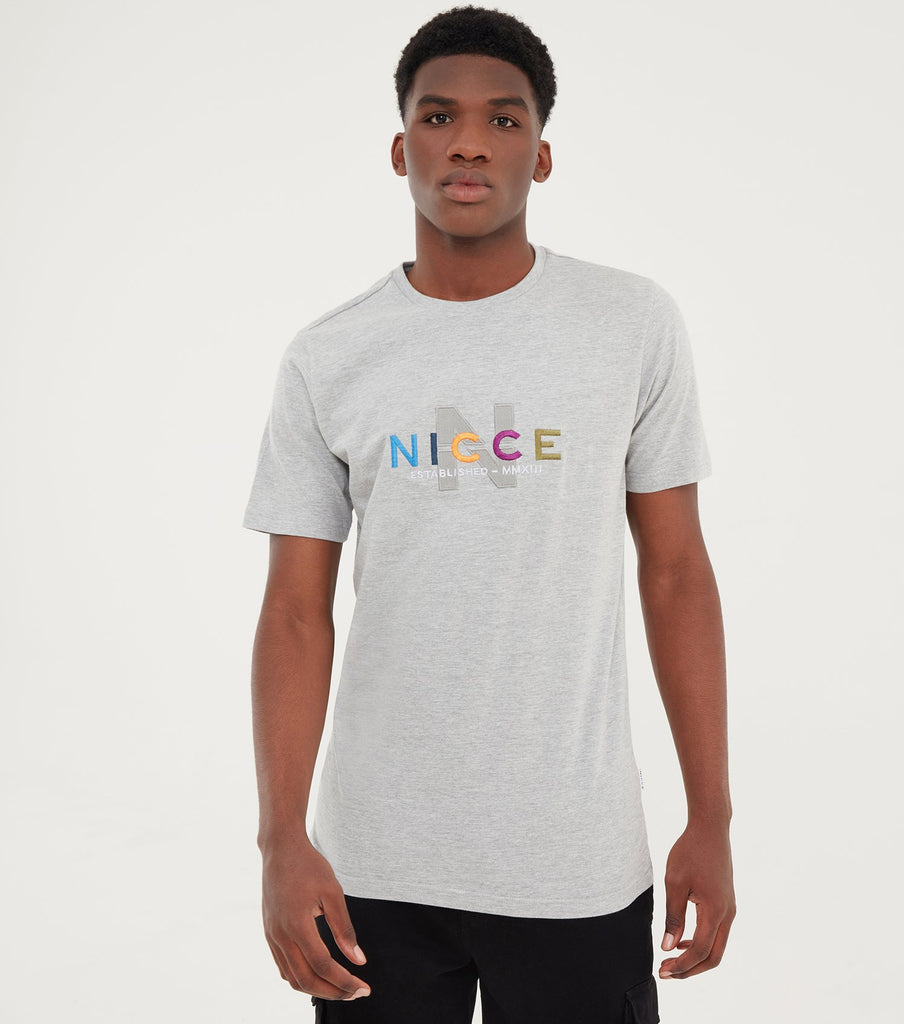 Men's Nicce Light Grey Monta T-Shirt