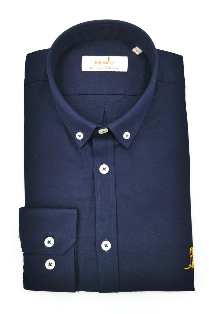 6th Sense Heritage Oxford Navy Shirt