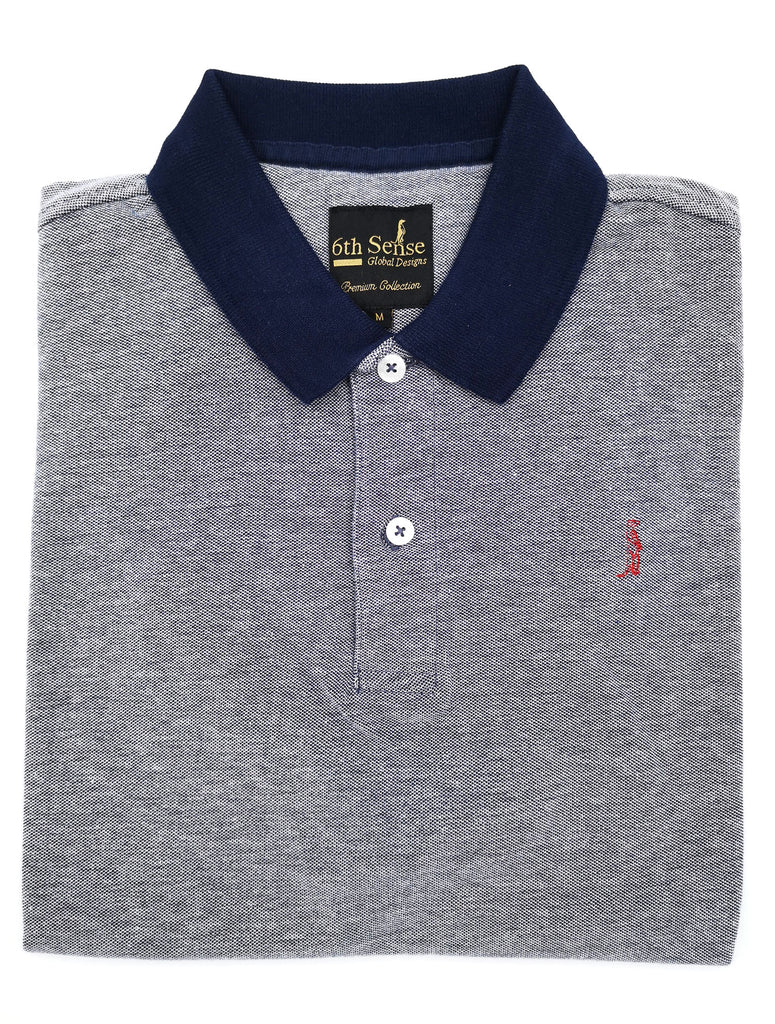 McGregor Contrast Collar Navy Polo