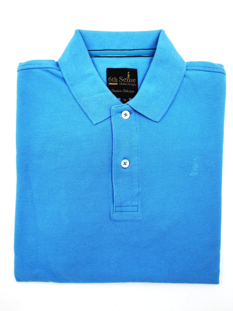 Shark Plain Blue Polo