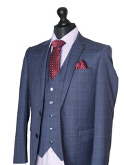 Men's Tapered Check Suit By 6Th Sense Global Designs