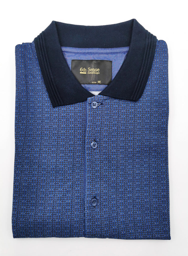 Knitted Polo Blue