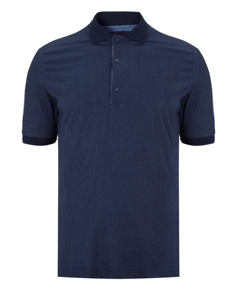 Men's 6th Sense Short Sleeve Knitted Polo Navy