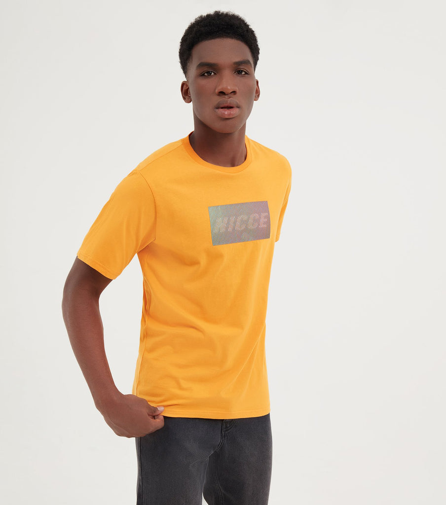 Men's Flame Orange Feint Short Sleeve T-Shirt
