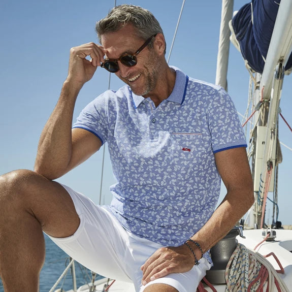 Corta Blue Pattern Polo