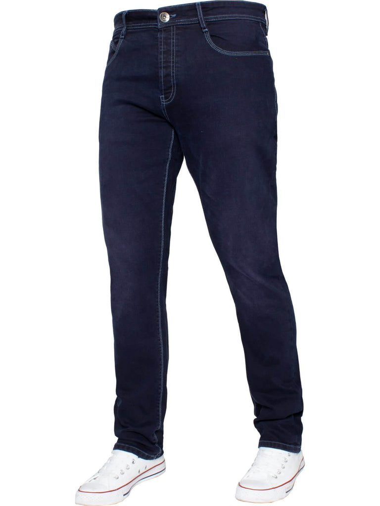 EM538 Mens Navy Tapered fit ETO jeans