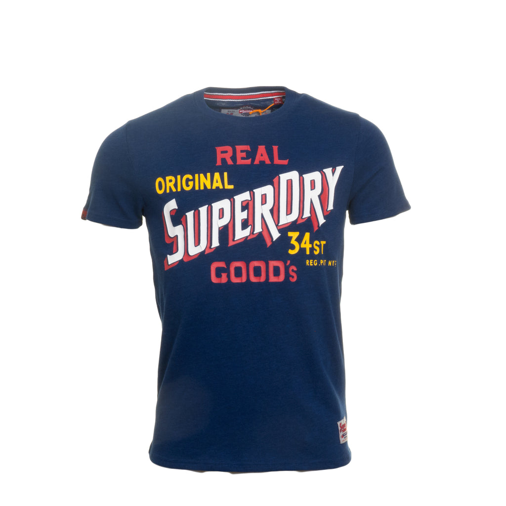 34ST Goods Sonix Blue Grindle Tee by Superdry