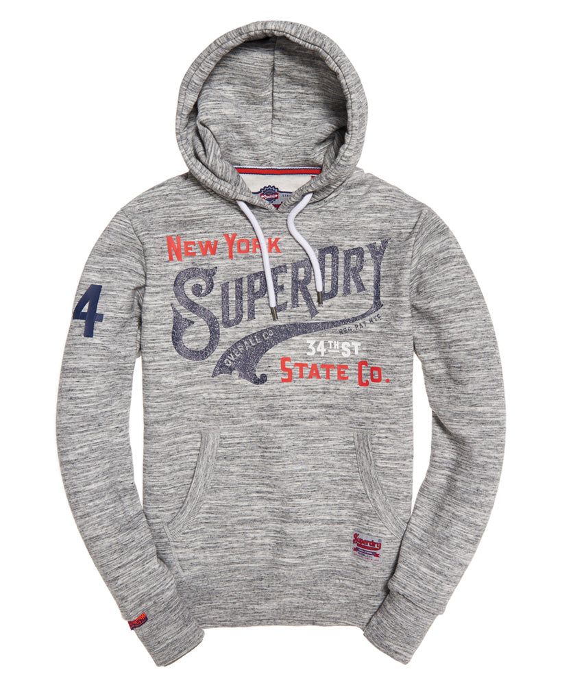 34th St Alaska Grey Grit Hoodie by Superdry