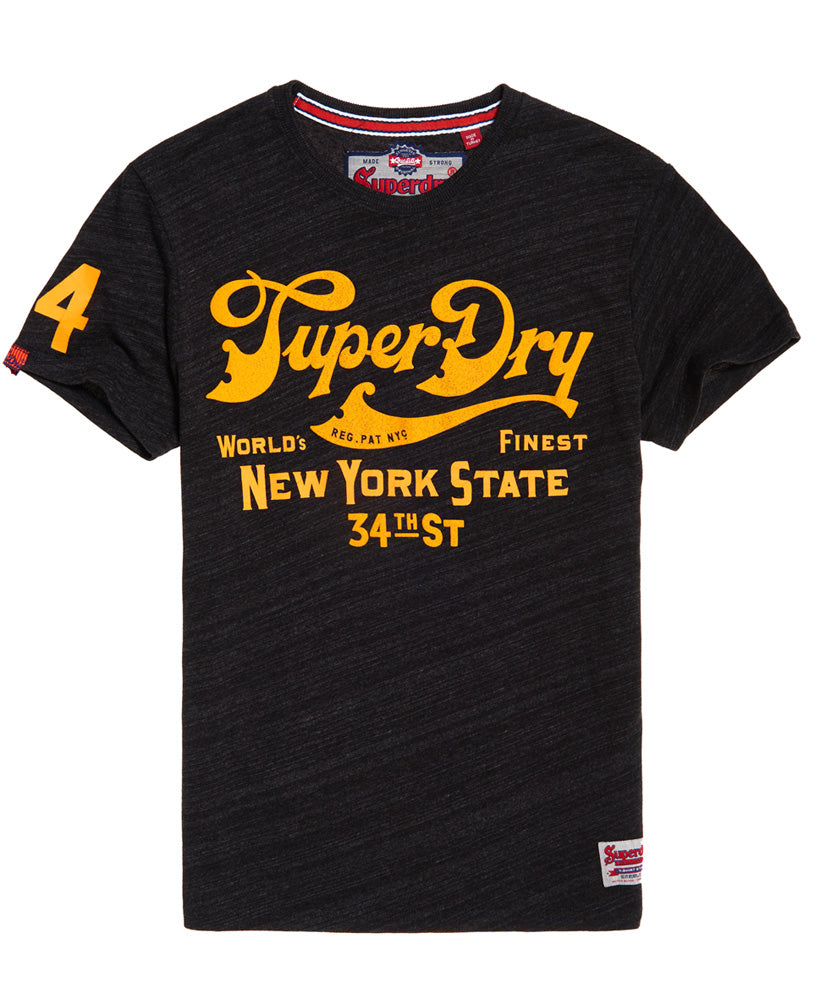34th St Charcoal Tee by Superdry