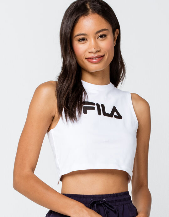 Inez Tie Back White  and Black  Women's Crop Top