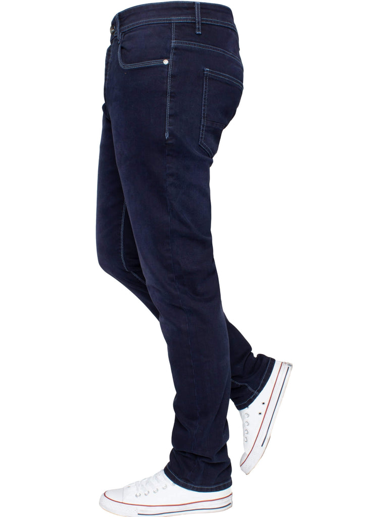 EM538 Navy Tapered Fit Jean by Eto Jeans
