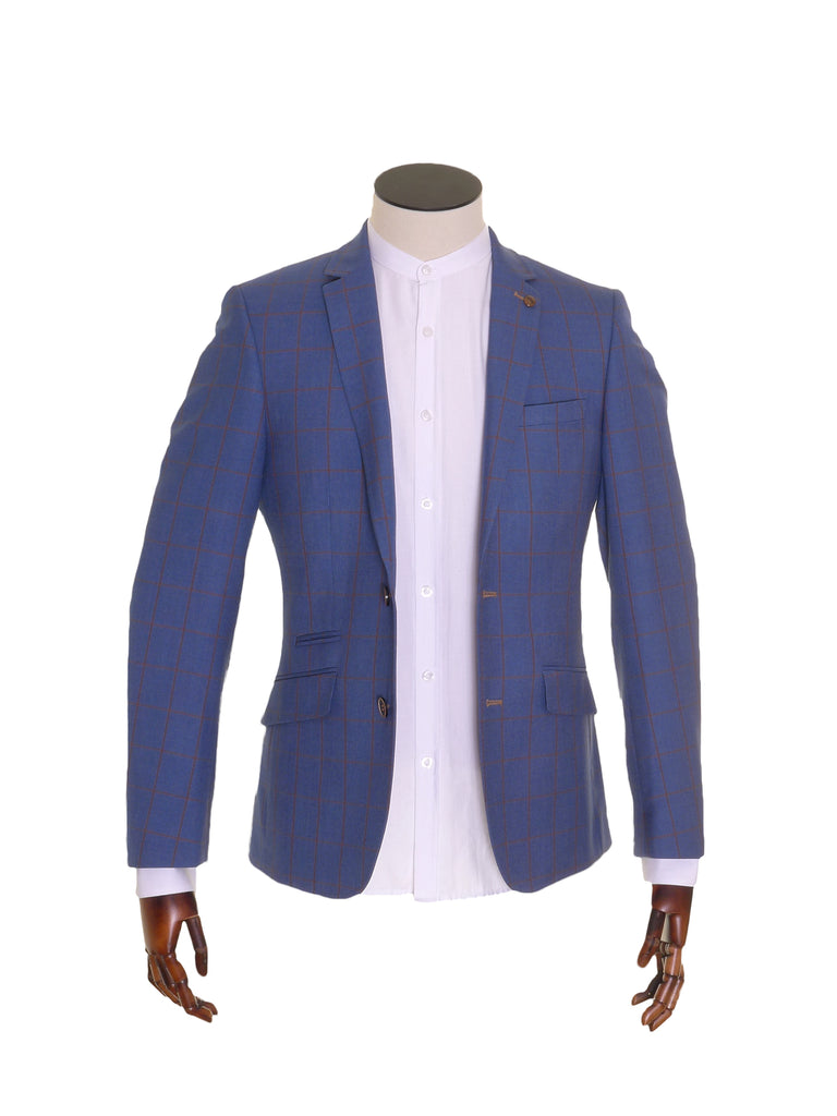 Blue Blazer with tan check by 6th Sense