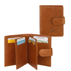 Amsterdam Leather Credit Card Holder 91636 Camel
