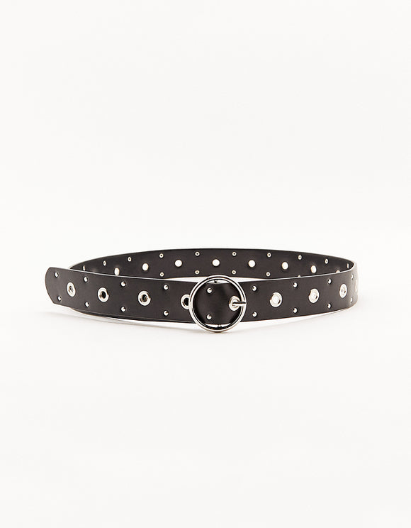Women's Faux Leather Studded Belt