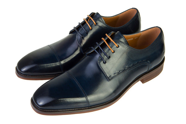 Benetti Arthur Navy Leather Shoe.