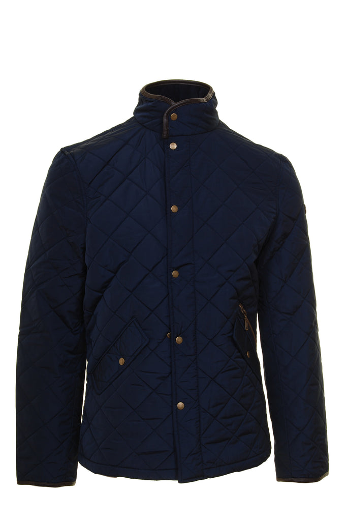 Ascot Mens Navy Quilted Jacket by 6th Sense - Front