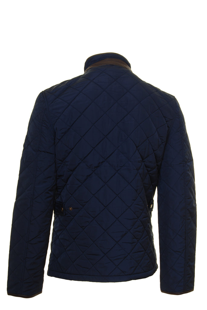 Ascot Mens Navy Quilted Jacket by 6th Sense - Back