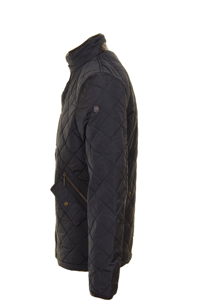 Ascot Quilted Grey Regular Fit Jacket by 6th Sense - Side