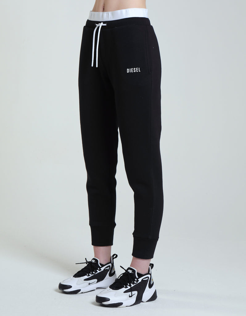 Mindy Black Cuffed Women's Jogger pant