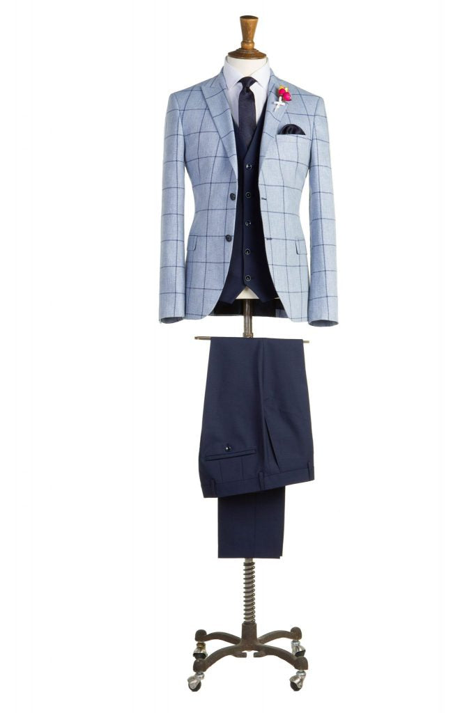 Barton Sky Check Tapered Fit Jacket