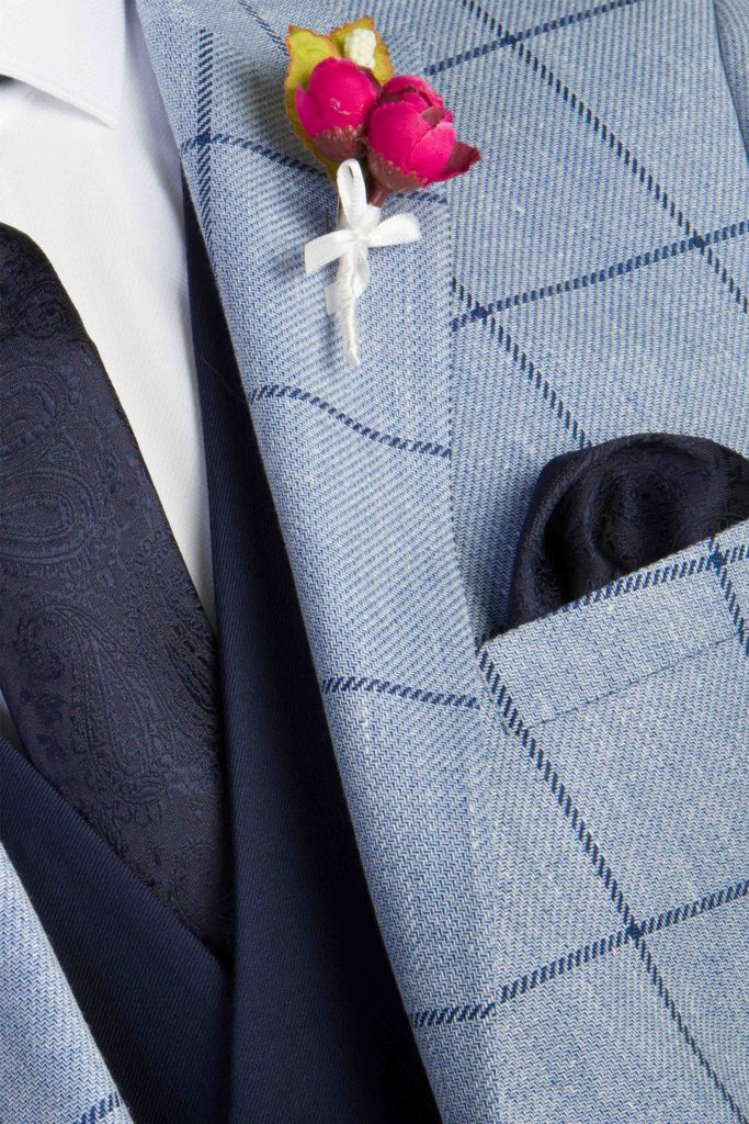 Barton Sky Check Tapered Fit Jacket Detail Shot