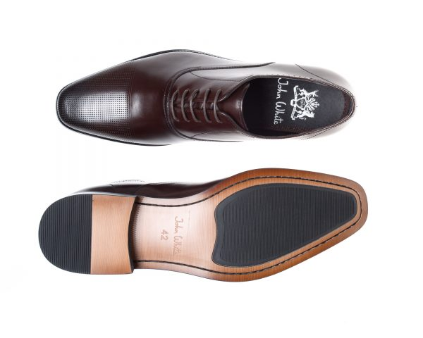 Bay Brown Capped Oxfords Calf Leather Shoe