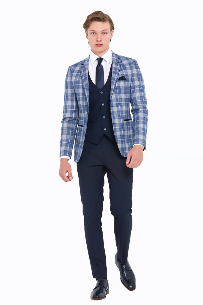 Kevin Check Slim Jacket