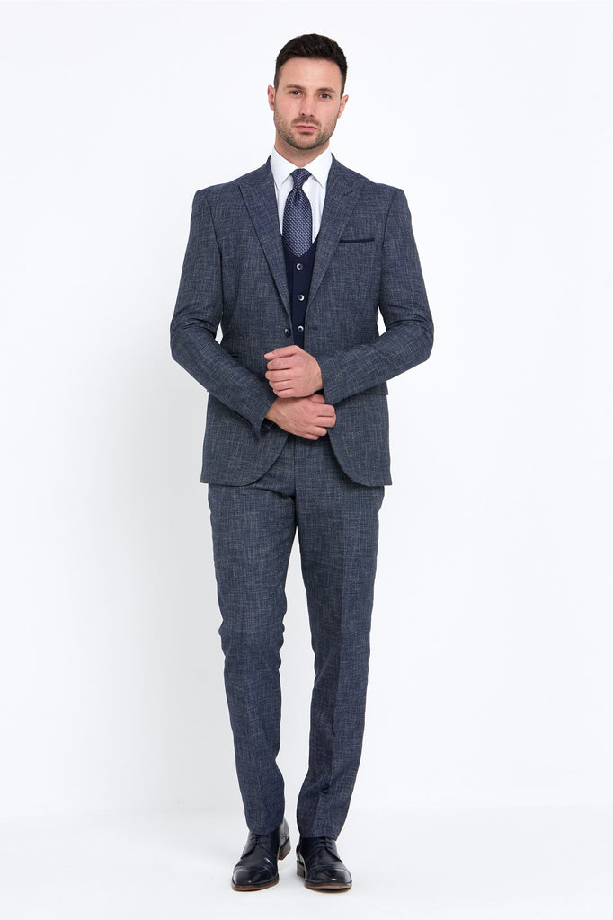 Macron Navy 3 Piece Suit