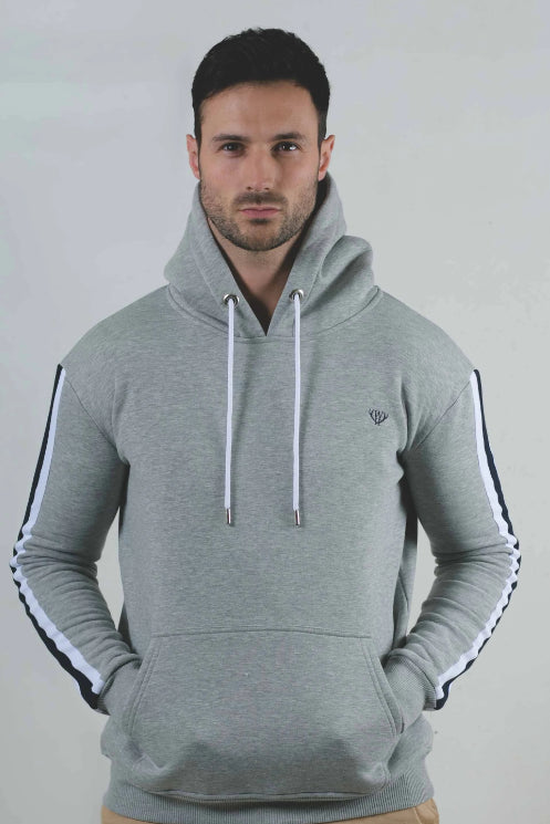 Ash Grey Signature Over The Head Hoodie