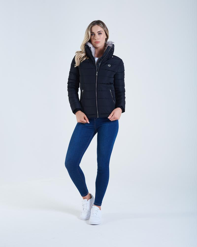 Lily Black Puffer Women's Jacket