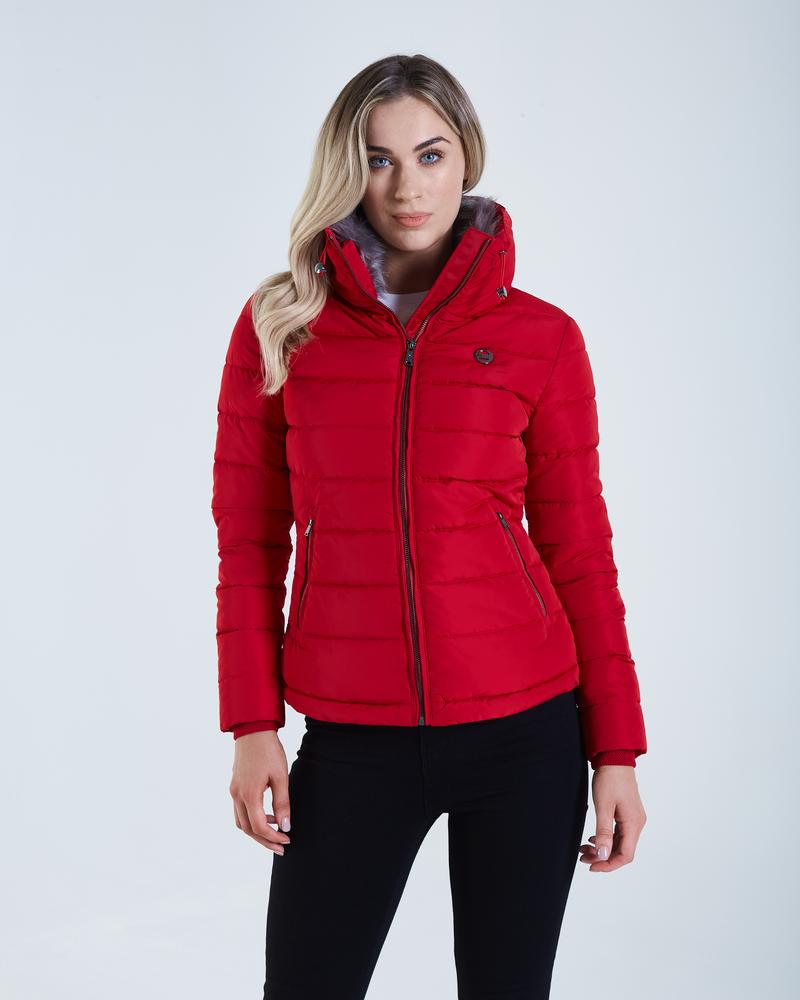 Lily Chilli Pepper Puffer Women's Jacket