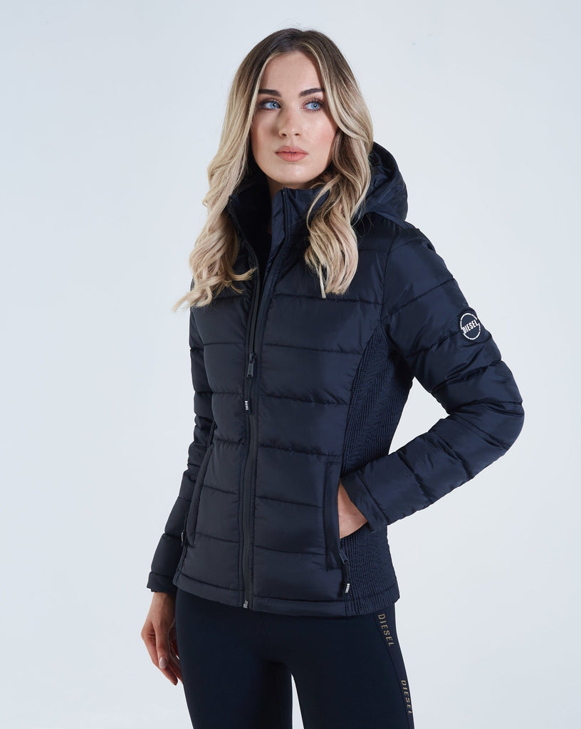 Women's Mimi hood black jacket