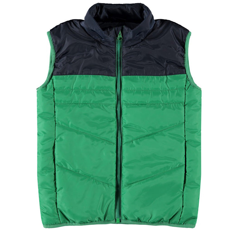 Mylane Green boys Gilet by Name It for ages 5 to 12 years