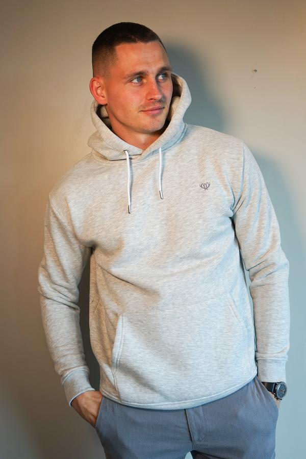 Men's Snow Grey Over Head Hoodie