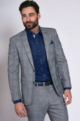 Marc Darcy Grey Check Jerry Blazer