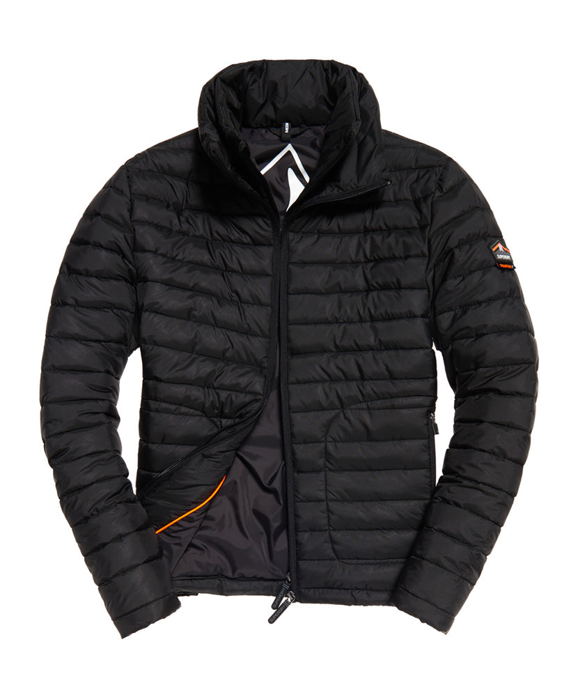 Double Zip Black Fuji Jacket by Superdry