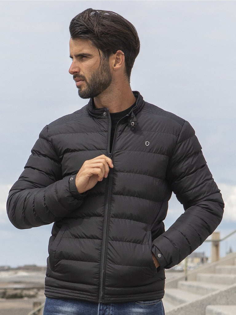 Eto Encounter Padded Black Jacket. EJK585