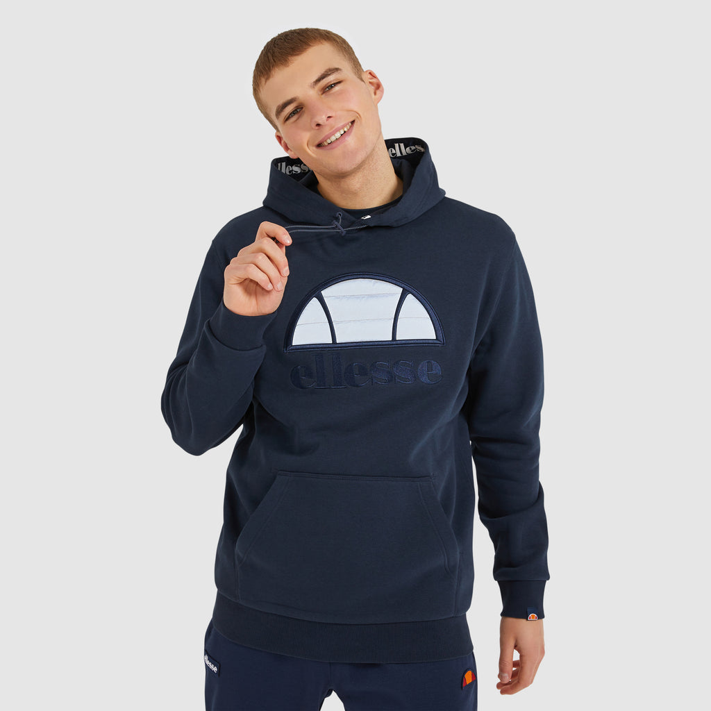 Ellesse Men's Trapunta Over Head Charcoal Hoody